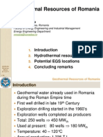 Geothermal Resources of Romania