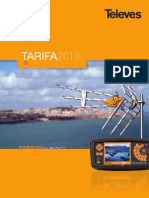 Tarifa 2013 Televes