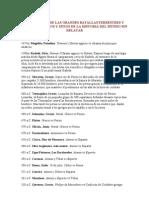 Cronologia de Las Grandes Batallas Terrestres y Navales, Asedios