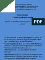 9. I Lakatos Introd- Ciencia y Pseudo-ciencia