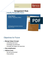 Fatigue Management Rule