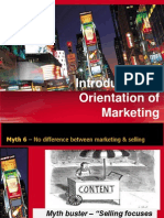 Introduction & Orientation of Marketing
