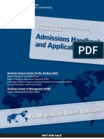 Graduate Admissions Handbook2013