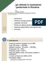 Tehnologii Utilizate in Exploatarea Energiei Geotermale in Romania