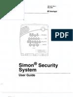 Simon Alarm System v3 Users Manual