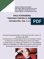 11. P. Feyerabend  Contra el método