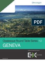 Opalesque 2012 Geneva Roundtable