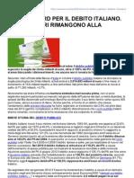 Nuovi Record Per Il Debito Italiano Gli Stranieri Rimangono Alla Finestra