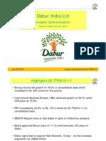 dabur investor presentation 2011