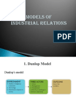 Models of Industrial Relation