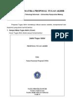 Sistematika Penulisan Proposal Ta