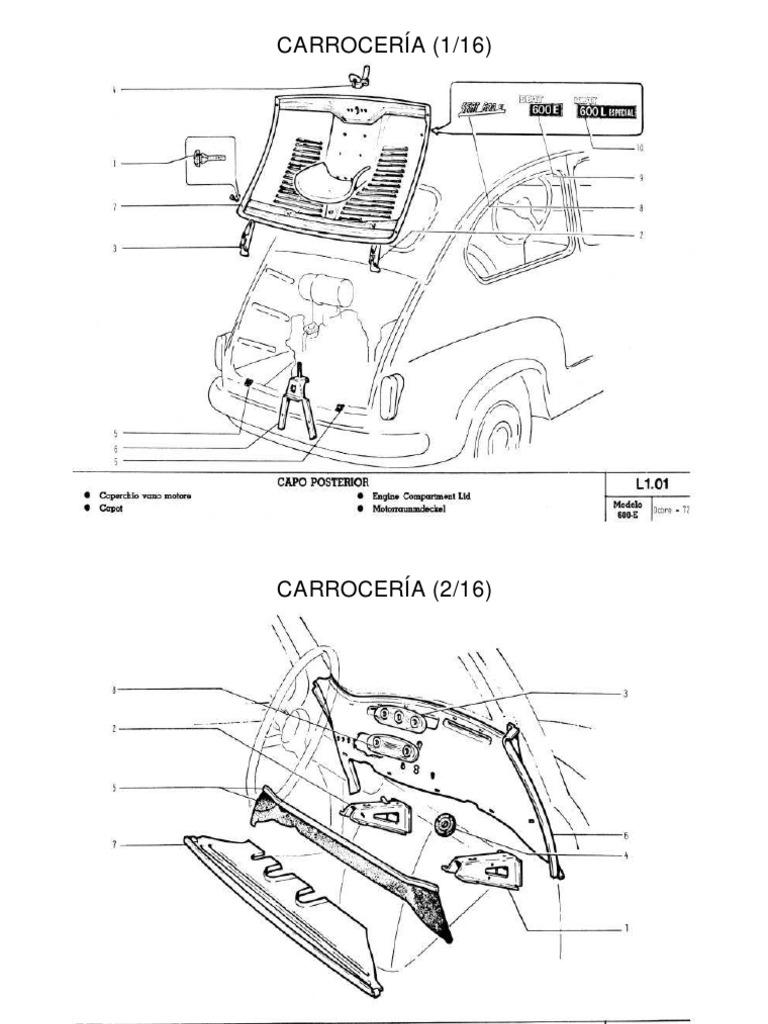 SEAT 600 Carroceria Del Seat 600