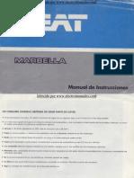 SEAT Marbella 1987 Manual