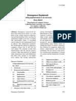Emergence explained