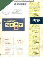 Seat 850 Guia de Tasaciones