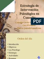 Estrategia de Intervencion Psicologica en Consulta