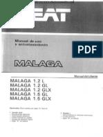 Seat Malaga 1985 Manual Uso Esp