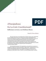 Principialismo en la Corte Constitucional - Un problema menor - Daniel Flórez Muñóz
