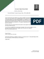 Empirical Performance of Alternative Option Pricing Models