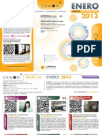 CAMON Murcia. Programación Enero 2013. Obra Social. Caja Mediterráneo