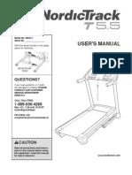 nordictrack t5.5 treadmill