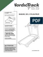 nordictrack t5.5 tapis roulant (français)