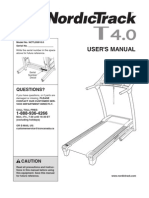NordicTrack t4 treadmill manual