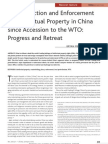The Protection and Enforcement of Intellectual Property in China Since Accession to the WTO