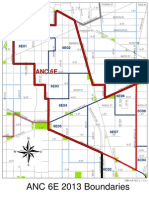 Map of ANC 6E in Washington, DC -- 2013