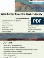Wind Energy Project in Khyber Agency FATA