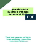 Propuestas 2009