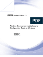 WebSphere Lombardi Edition-7.2.0-Runtime Environment Installation and Configuration Guide for Windows