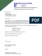 Letter of Dean Lumed 5