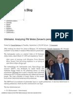 Wikileaks_ Analyzing PM Meles Zenawi's personality [full text] « Danielberhane's Blog
