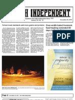 Faith Independent, Decebmer 26, 2012