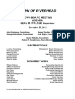 Riverhead Town Board agenda 12-27-2012