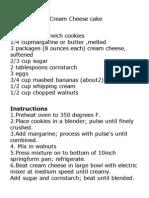 Banana Bread Cream Cheese cake