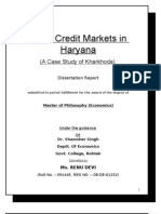 Rural Credit Markets in Haryana (a Case Study of Kharkhoda)
