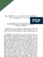 En Torno a La Idea de Imperio en Alfonso x El Sabio