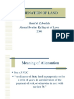 <LAND LAW I> Alienation of Land