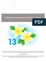 Salesforce Spring'13 Release Notes