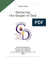 Declaring the Gospel of God Student workbook
