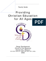 Providing Christian Education for All Ages Instructors Guide