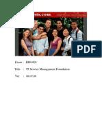 Actual Tests ITIL ISEB Exam 2006.08.07
