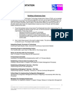 Itil Implementation Road Map - Building a Business Case