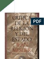 Meslier, Jean - Critica de La Religion y Del Estado