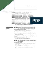 curriculum vitae (CV) for Dr. Nachaat Mazeh