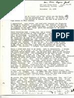 Correspondence - Walter Salts regarding Foster family