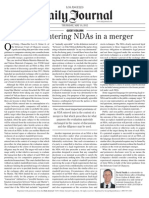 Tips for Entering NDAs in a Merger