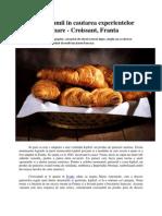 In jurul lumii in cautarea experientelor culinare - Croissant, Franta